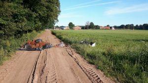 Opnieuw wietafval gedumpt in buitengebied Delden