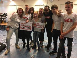 Leerlingen Twickelcollege Delden halen bijna 5000 euro op voor Dance4Life