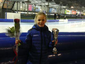Deldense Sophie Exterkate wint zilver bij officieus NK schaatsen