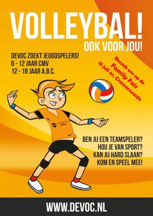 Volleybal op Family Fair