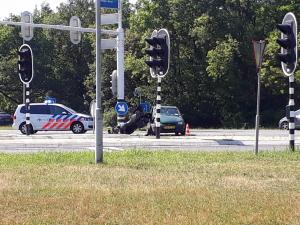 Update: Storing verkeerslichten oprit N346 bij Delden verholpen