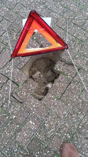 Ook 'sinkhole' aan Ranninkstraat Delden
