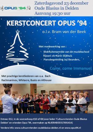 Cultuurvriendenkerstconcert in Oude Blasius met Opus '94