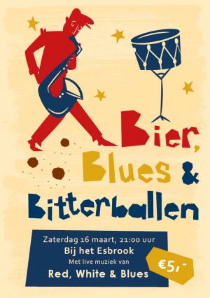 Gezelligen Oamd Esbrook met bier blues en bitterballen