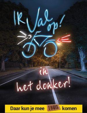 Extra controle fietsverlichting in de gemeente Hof van Twente