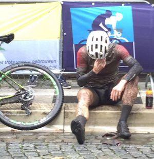 Pech achtervolgt Edwin Geerdink ook bij NK Marathon mountainbike