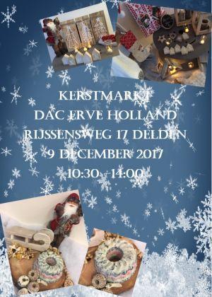 Derde kerstmarkt bij Erve Holland op 9 december